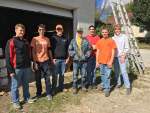 Group who helped on project one day