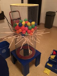 Finished game of Kerplunk