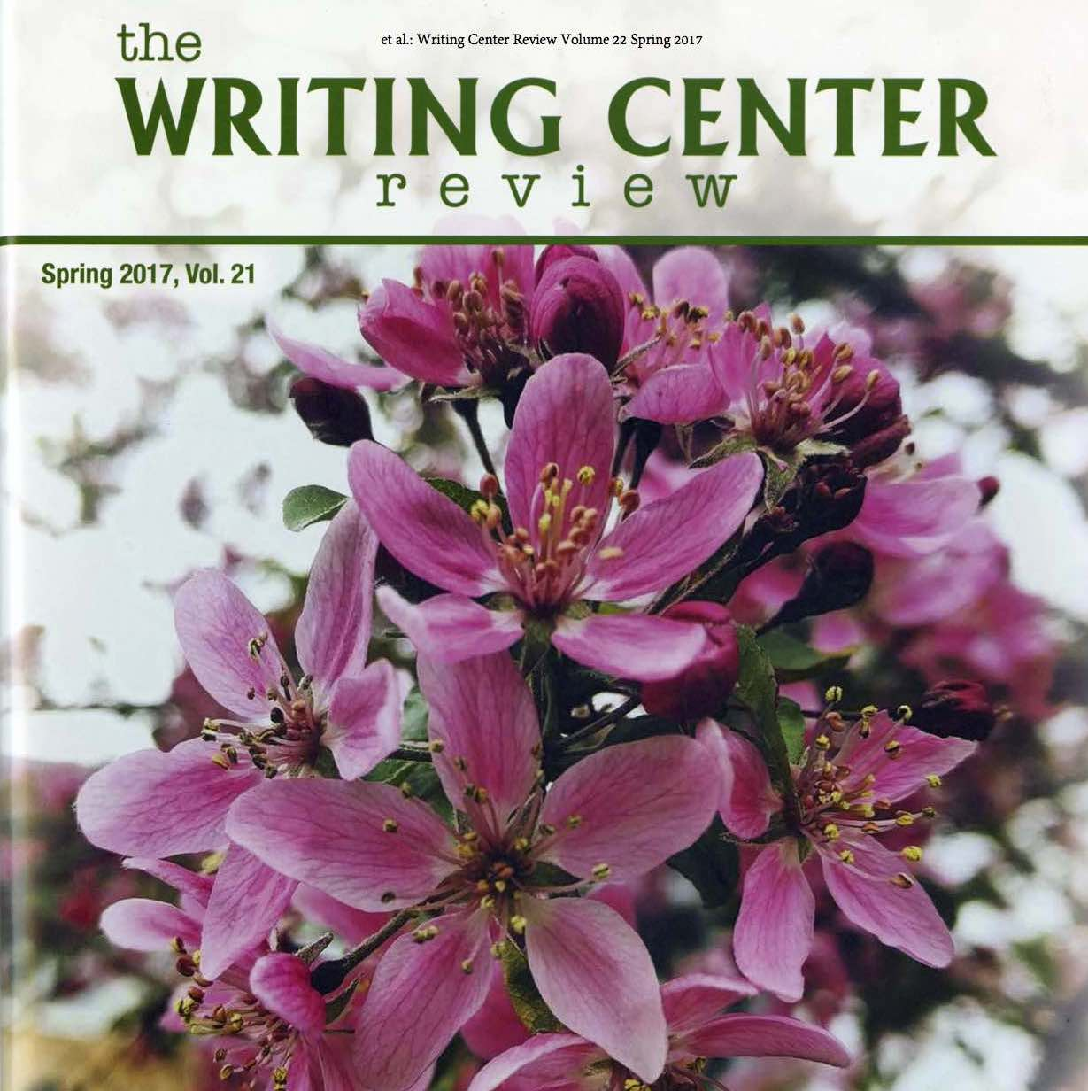 Writing Center Review Volume 22 Spring 2017-2
