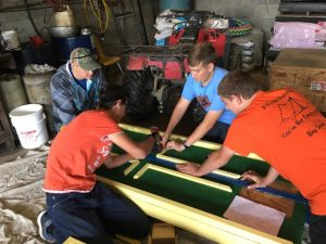 Group working on Putt-Putt course