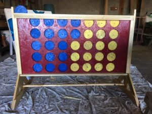 Finished Giant Connect Four